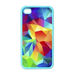 Triangles Space Rainbow Color Apple Iphone 4 Case (color) by Mariart