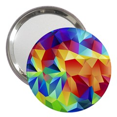 Triangles Space Rainbow Color 3  Handbag Mirrors by Mariart