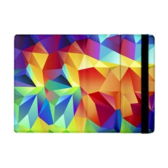 Triangles Space Rainbow Color Apple Ipad Mini Flip Case by Mariart