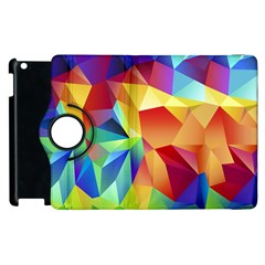 Triangles Space Rainbow Color Apple Ipad 3/4 Flip 360 Case by Mariart