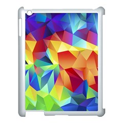 Triangles Space Rainbow Color Apple Ipad 3/4 Case (white) by Mariart