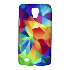 Triangles Space Rainbow Color Galaxy S4 Active by Mariart