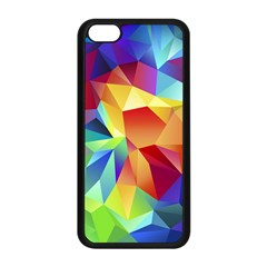 Triangles Space Rainbow Color Apple Iphone 5c Seamless Case (black) by Mariart