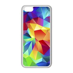 Triangles Space Rainbow Color Apple Iphone 5c Seamless Case (white) by Mariart