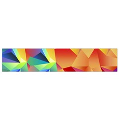 Triangles Space Rainbow Color Flano Scarf (small) by Mariart