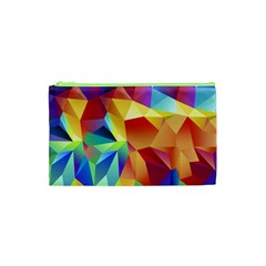 Triangles Space Rainbow Color Cosmetic Bag (xs) by Mariart