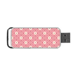 Sunflower Star White Pink Chevron Wave Polka Portable Usb Flash (one Side) by Mariart
