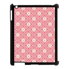 Sunflower Star White Pink Chevron Wave Polka Apple Ipad 3/4 Case (black) by Mariart