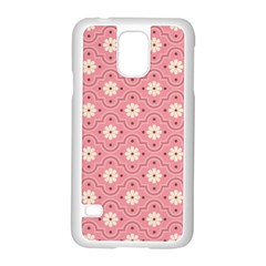 Sunflower Star White Pink Chevron Wave Polka Samsung Galaxy S5 Case (white)