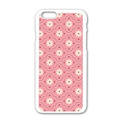 Sunflower Star White Pink Chevron Wave Polka Apple Iphone 6/6s White Enamel Case by Mariart