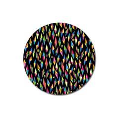Skulls Bone Face Mask Triangle Rainbow Color Magnet 3  (round) by Mariart