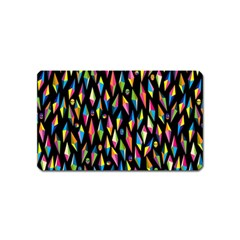 Skulls Bone Face Mask Triangle Rainbow Color Magnet (name Card) by Mariart