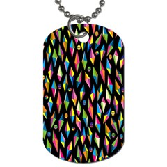 Skulls Bone Face Mask Triangle Rainbow Color Dog Tag (two Sides) by Mariart