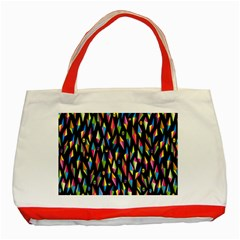 Skulls Bone Face Mask Triangle Rainbow Color Classic Tote Bag (red) by Mariart