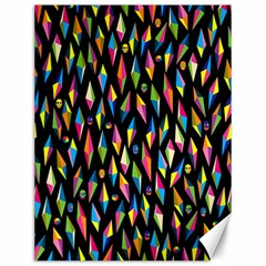 Skulls Bone Face Mask Triangle Rainbow Color Canvas 12  X 16   by Mariart