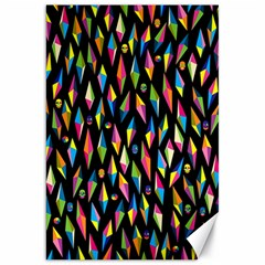 Skulls Bone Face Mask Triangle Rainbow Color Canvas 20  X 30   by Mariart