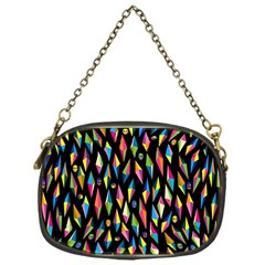 Skulls Bone Face Mask Triangle Rainbow Color Chain Purses (one Side)  by Mariart