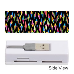 Skulls Bone Face Mask Triangle Rainbow Color Memory Card Reader (stick)  by Mariart