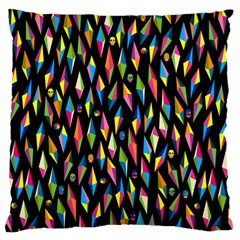 Skulls Bone Face Mask Triangle Rainbow Color Large Cushion Case (one Side) by Mariart