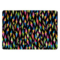 Skulls Bone Face Mask Triangle Rainbow Color Samsung Galaxy Tab 10 1  P7500 Flip Case by Mariart