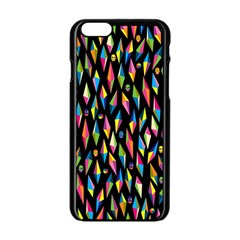 Skulls Bone Face Mask Triangle Rainbow Color Apple Iphone 6/6s Black Enamel Case by Mariart