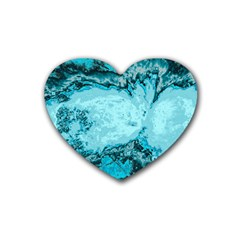 Abstraction Rubber Coaster (heart)  by Valentinaart