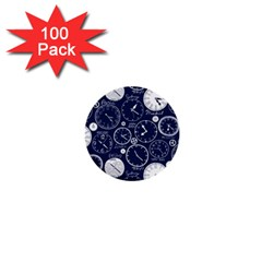 World Clocks 1  Mini Buttons (100 Pack)  by Mariart