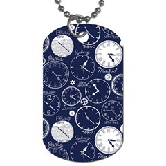 World Clocks Dog Tag (two Sides) by Mariart
