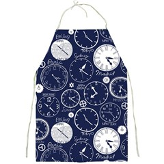 World Clocks Full Print Aprons by Mariart