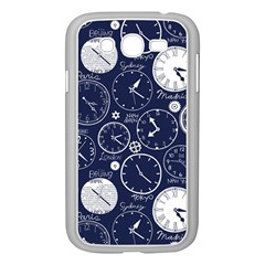 World Clocks Samsung Galaxy Grand Duos I9082 Case (white) by Mariart