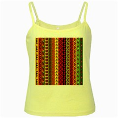 Tribal Grace Colorful Yellow Spaghetti Tank by Mariart