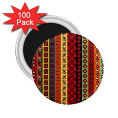 Tribal Grace Colorful 2 25  Magnets (100 Pack)  by Mariart