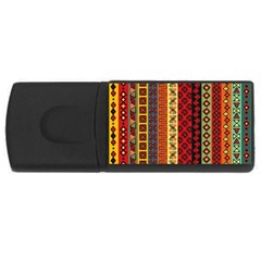 Tribal Grace Colorful Usb Flash Drive Rectangular (4 Gb) by Mariart