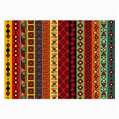 Tribal Grace Colorful Large Glasses Cloth (2 Side) by Mariart
