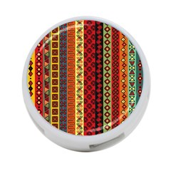 Tribal Grace Colorful 4 Port Usb Hub (one Side) by Mariart