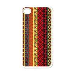 Tribal Grace Colorful Apple Iphone 4 Case (white) by Mariart