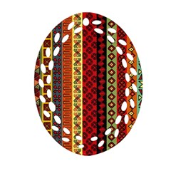 Tribal Grace Colorful Oval Filigree Ornament (two Sides) by Mariart