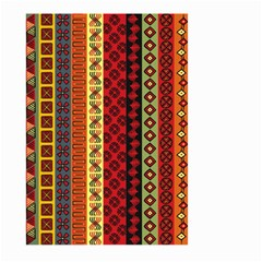 Tribal Grace Colorful Large Garden Flag (two Sides) by Mariart