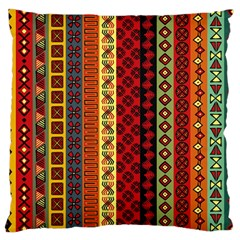 Tribal Grace Colorful Large Cushion Case (two Sides) by Mariart