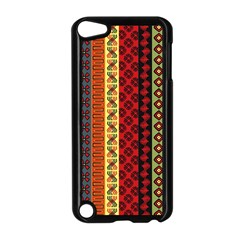 Tribal Grace Colorful Apple Ipod Touch 5 Case (black) by Mariart