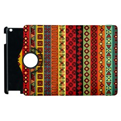 Tribal Grace Colorful Apple Ipad 2 Flip 360 Case by Mariart