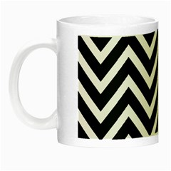 Zigzag Pattern Night Luminous Mugs by Valentinaart