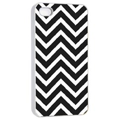 Zigzag Pattern Apple Iphone 4/4s Seamless Case (white) by Valentinaart