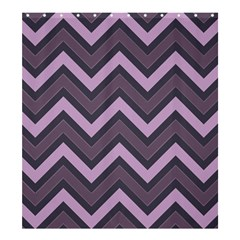 Zigzag Pattern Shower Curtain 66  X 72  (large)  by Valentinaart