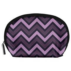 Zigzag Pattern Accessory Pouches (large)  by Valentinaart