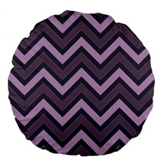 Zigzag Pattern Large 18  Premium Flano Round Cushions by Valentinaart