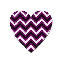 Zigzag Pattern Heart Magnet by Valentinaart