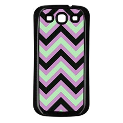 Zigzag Pattern Samsung Galaxy S3 Back Case (black) by Valentinaart