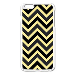 Zigzag Pattern Apple Iphone 6 Plus/6s Plus Enamel White Case by Valentinaart