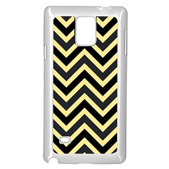 Zigzag Pattern Samsung Galaxy Note 4 Case (white) by Valentinaart